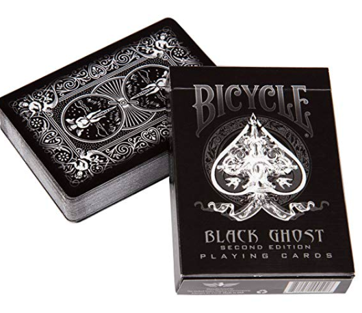 playing cards: Bicycle Black Ghost