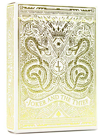 playing cards: Joker and the Thief White Gold Edition