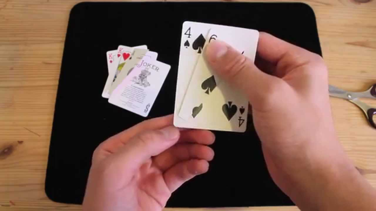 Bent Corners playing Cards 3 Card monte trick