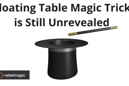 Magic Hat and Wand - floating table