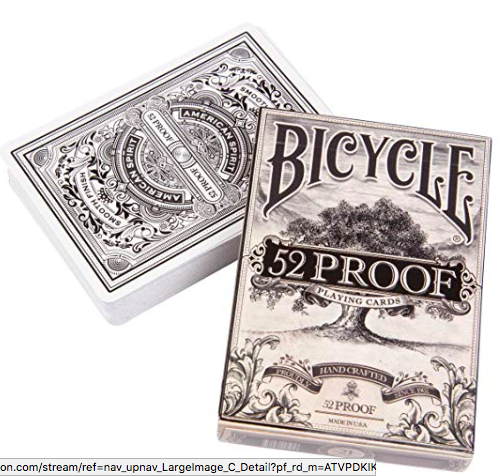 playing cards: Bicycle 52 Proof