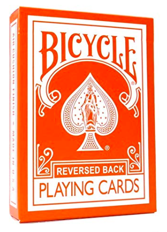Magic Makers Orange Reversed Deck Bicycle Playing Cards