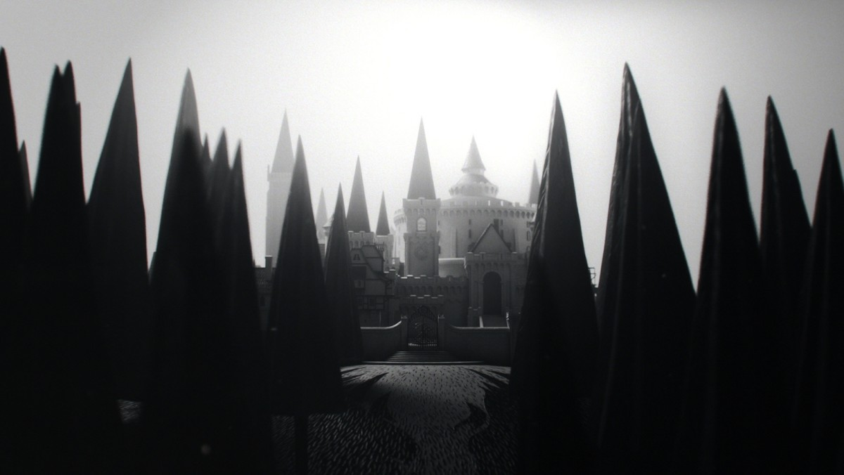 a photo of a school in sepia mode
