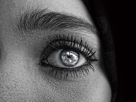 emotional eye of a woman