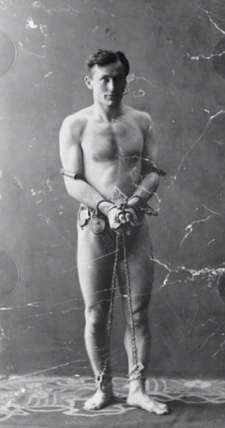houdini's escape from policeman's most stringent locks