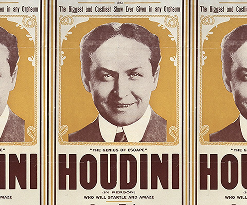 houdini's poster seen on public