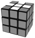 white cross on top - how to solve a rubik's cube