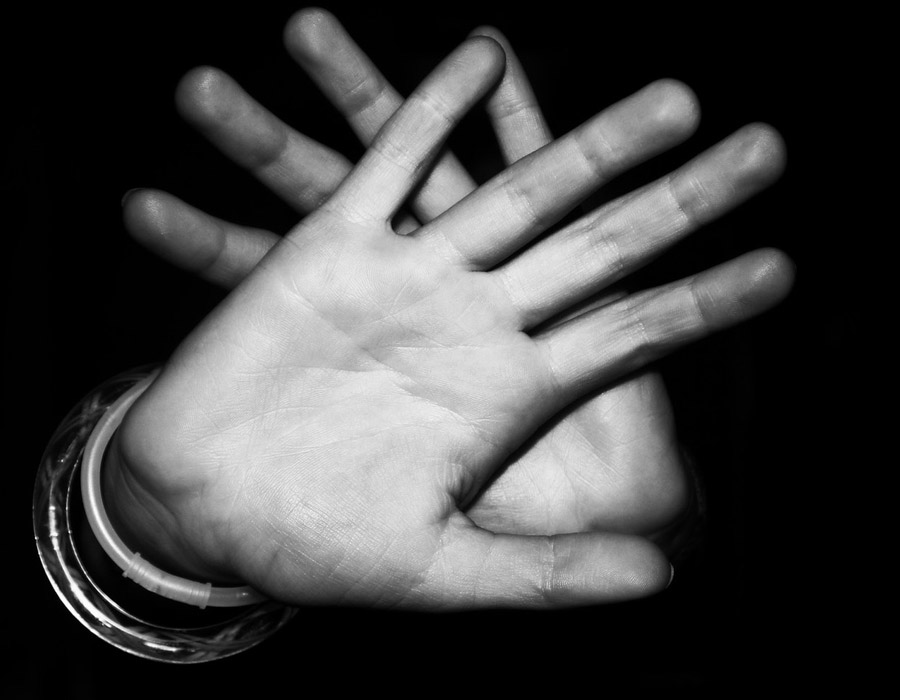 Hand black and white