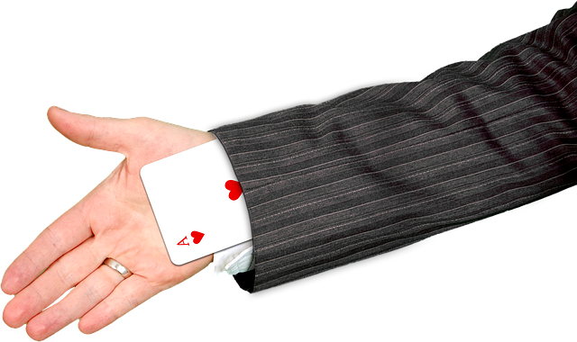 A card trick using longsleeve